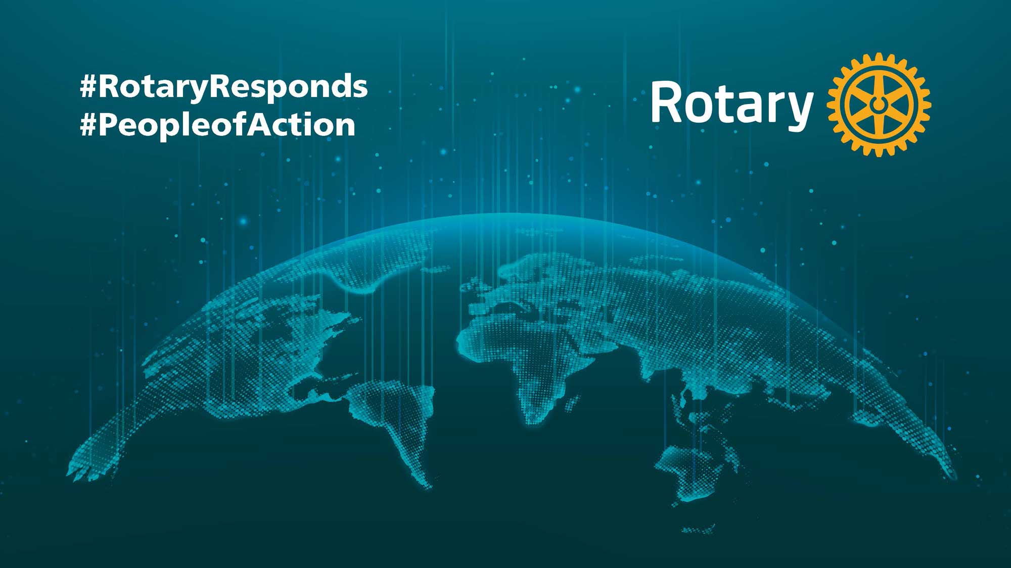 Banner, #RotaryResponds, #PeopleofAction