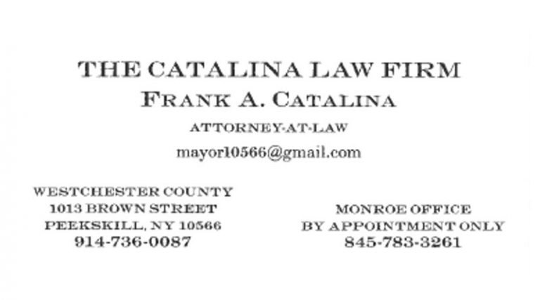 The Catalina Law Firm - Frank Catalina business card