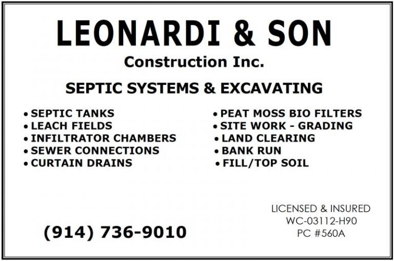 Leonardi & Son Construction banner ad