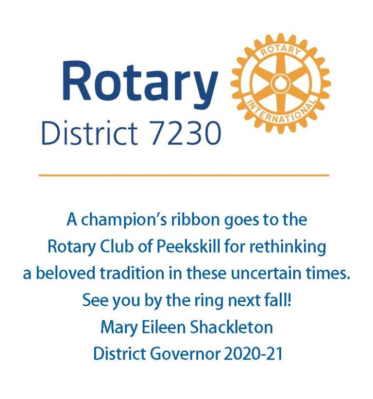 District 7230 District Governor Mary Shackleton congratulates the Peekskill Rotary Club.