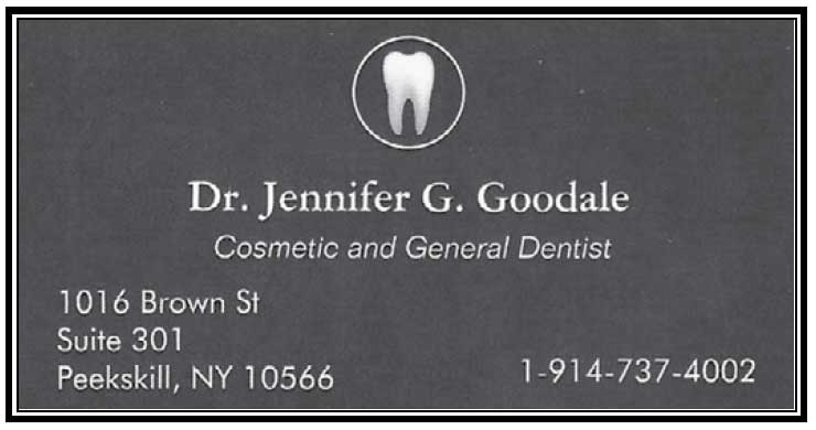 Dr. Jennifer Goodale Business Card