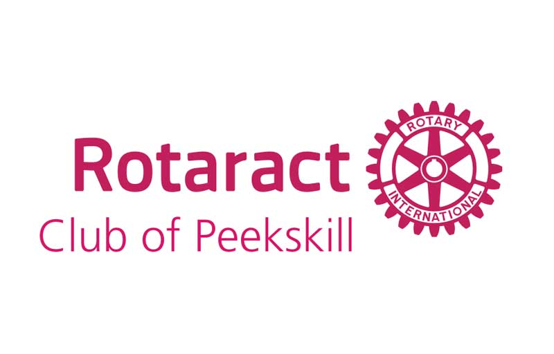 Rotaract Club of Peekskill text next to Rotary International Medallion
