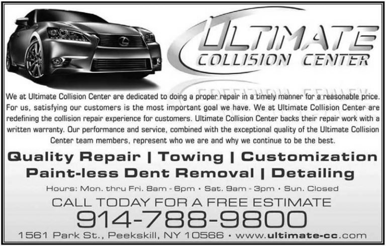 Ultimate Collision Center business card.